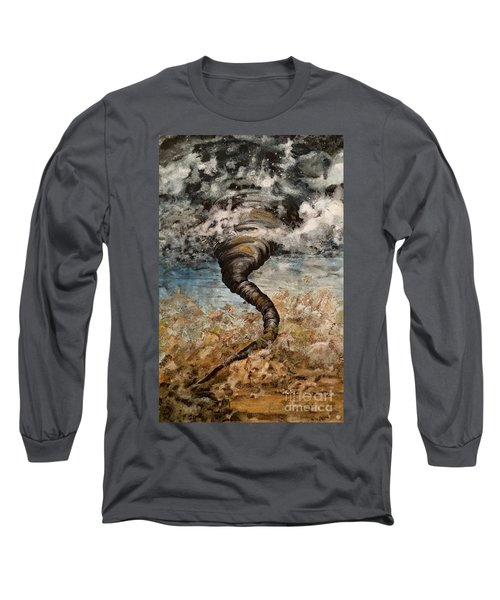 Twister On The Colorado Plains Long Sleeve T-Shirt