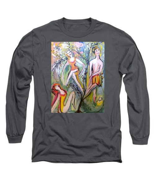 Twists And Turns Long Sleeve T-Shirt by Judith Desrosiers