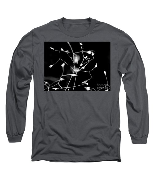 Twittering Seed Pods Bw Long Sleeve T-Shirt
