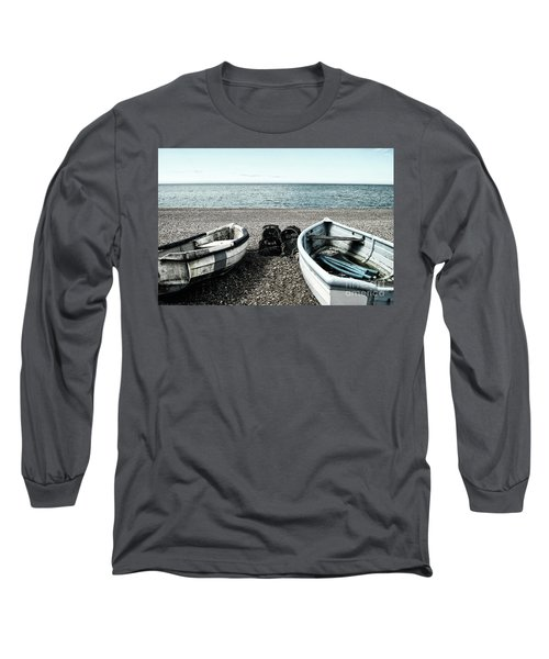 Two Boats On Seaford Beach Long Sleeve T-Shirt