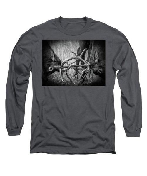 Two Bull Elk Sparring Long Sleeve T-Shirt