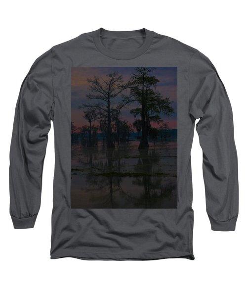 Two Cypress At Dawn Long Sleeve T-Shirt