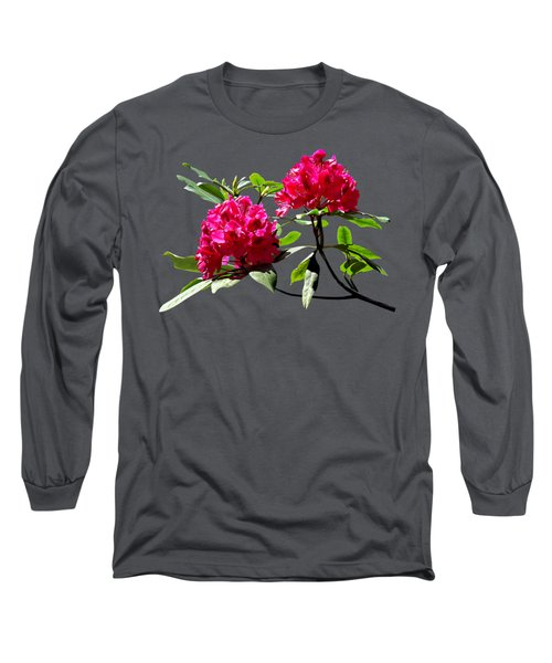Two Dark Red Rhododendrons Long Sleeve T-Shirt