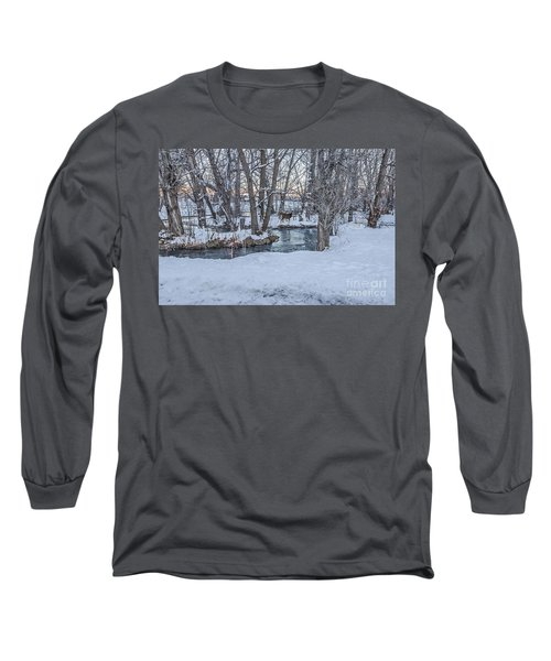 Two Deer At Sunset Long Sleeve T-Shirt by Sue Smith