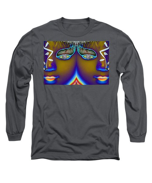 Long Sleeve T-Shirt featuring the digital art Mirrored  by Holly Ethan
