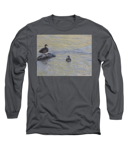 Two Mallard Ducks Long Sleeve T-Shirt