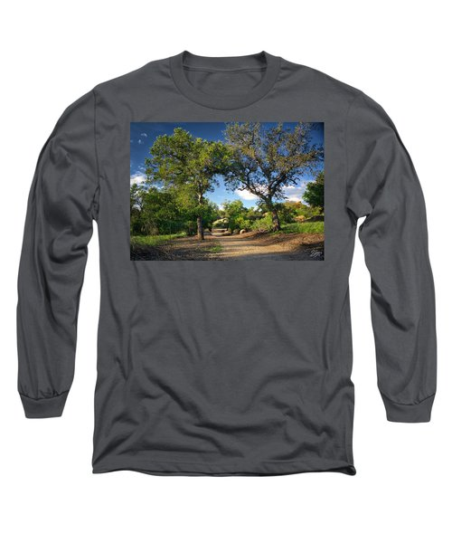 Two Old Oak Trees Long Sleeve T-Shirt by Endre Balogh