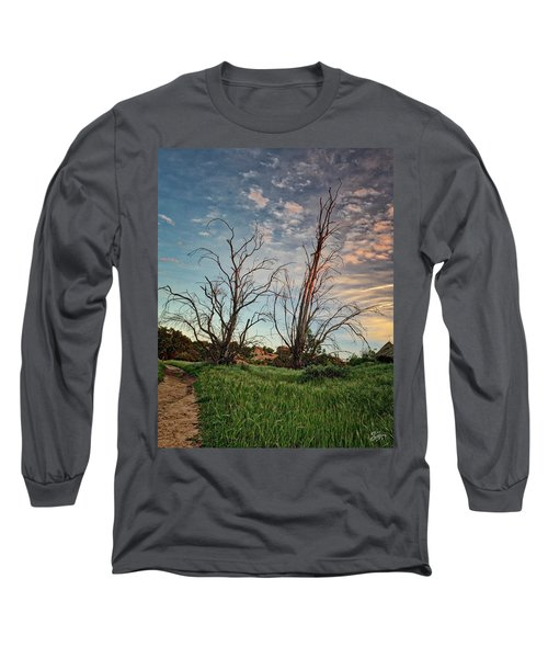 Two Sentinels Long Sleeve T-Shirt by Endre Balogh