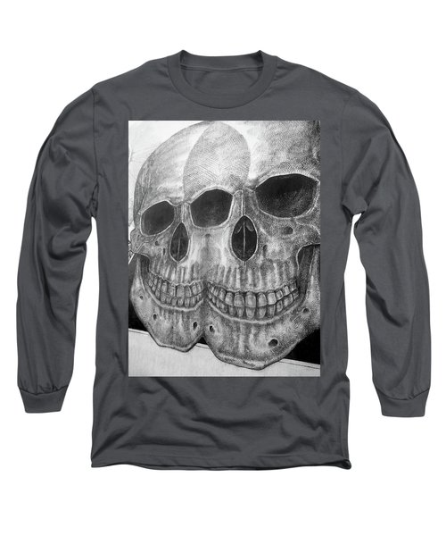 Long Sleeve T-Shirt featuring the photograph Two Skulls ... by Juergen Weiss
