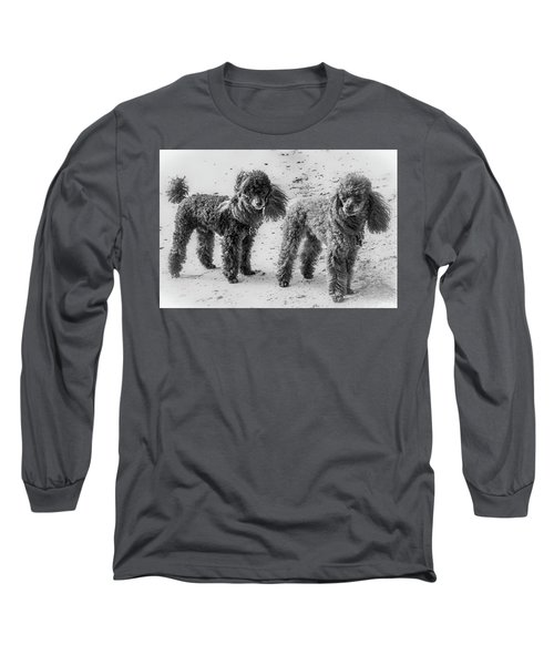 Two Toys B/w Long Sleeve T-Shirt