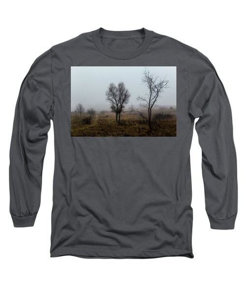 Two Trees In The Fog Long Sleeve T-Shirt