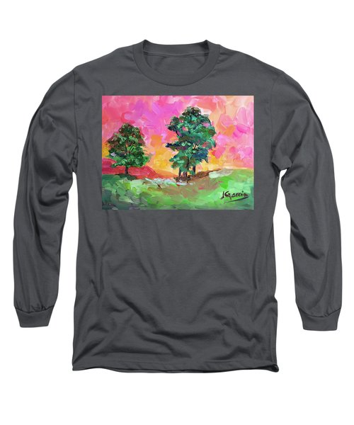 Two Trees Long Sleeve T-Shirt by Janet Garcia