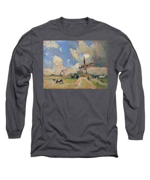 Two Windmills Long Sleeve T-Shirt by Nop Briex