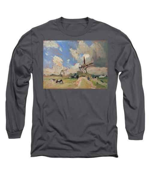Two Windmills Long Sleeve T-Shirt by Nop Briex