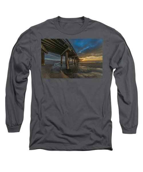 Tybee Island Beach Pier  Long Sleeve T-Shirt