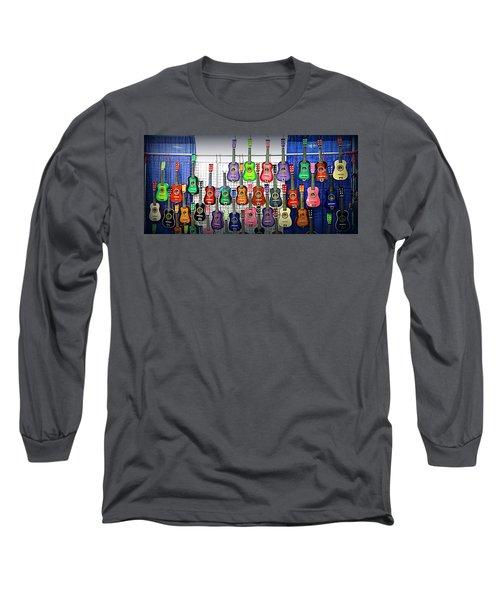 Long Sleeve T-Shirt featuring the photograph Ukuleles At The Fair by Lori Seaman