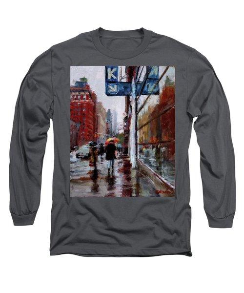 Umbrellas On Amsterdam Aveune Long Sleeve T-Shirt