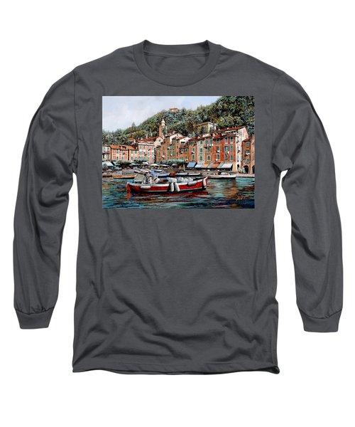 Una Lunga Barca Rossa Long Sleeve T-Shirt