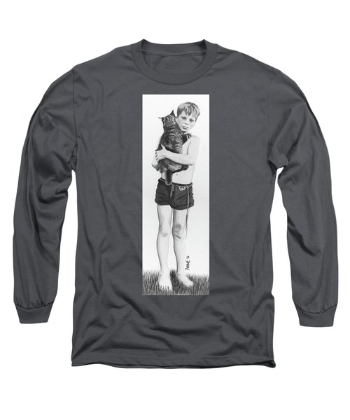 Long Sleeve T-Shirt featuring the painting Uncle George by Ferrel Cordle