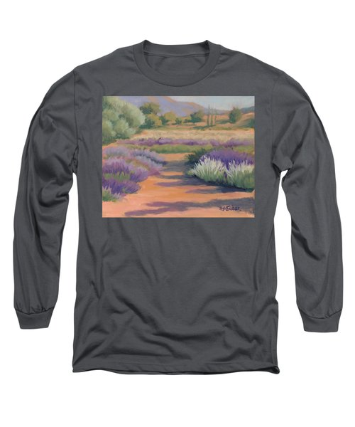 Under A Summer Sun In Lavender Fields Long Sleeve T-Shirt