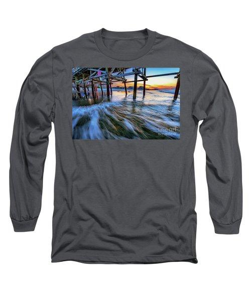 Under Cherry Grove Pier 2 Long Sleeve T-Shirt