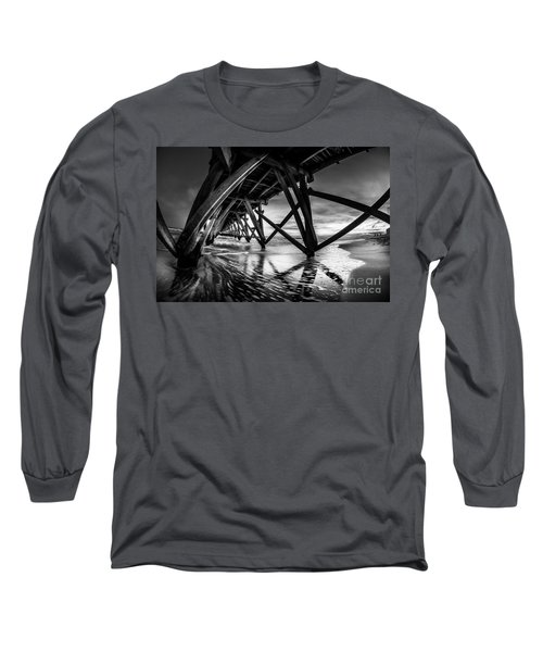 Under Sea Cabin Pier At Sunset Long Sleeve T-Shirt