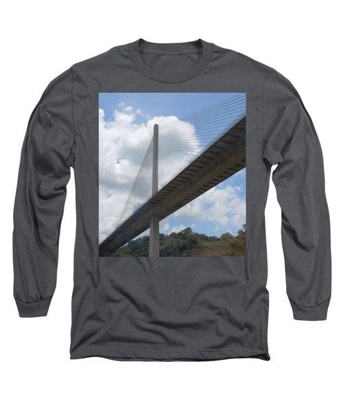 Under The Bridge Through Panama Long Sleeve T-Shirt by Karen J Shine
