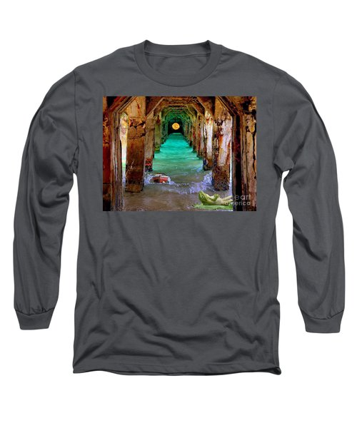 Under The Broadwalk Long Sleeve T-Shirt by Mojo Mendiola