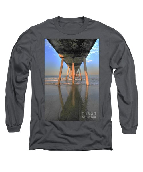 Under The Hermosa Pier Long Sleeve T-Shirt