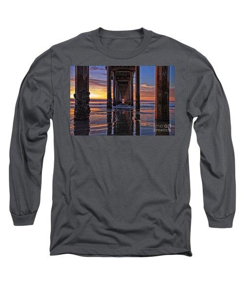 Under The Scripps Pier Long Sleeve T-Shirt