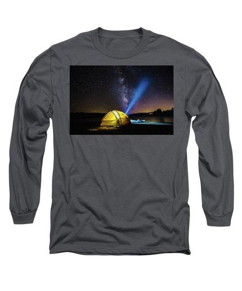 Under The Stars Long Sleeve T-Shirt by Alpha Wanderlust