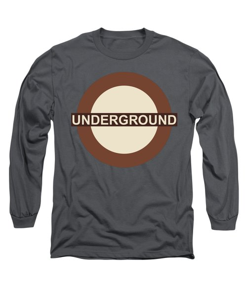 Long Sleeve T-Shirt featuring the digital art Underground75 by Saad Hasnain