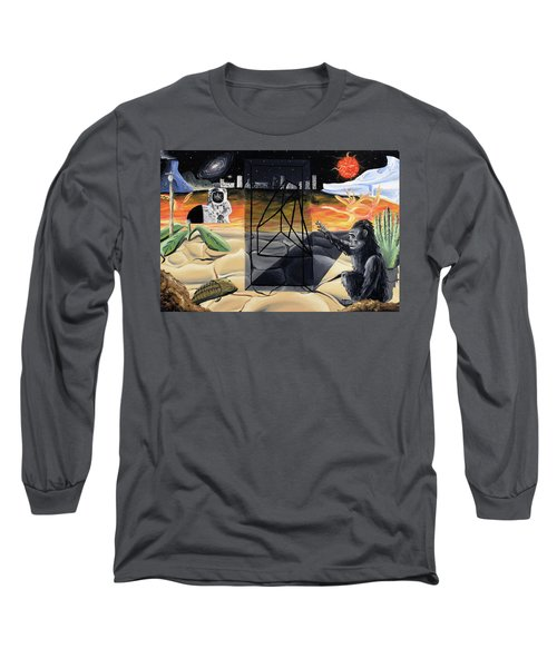 Long Sleeve T-Shirt featuring the painting Understanding Time by Ryan Demaree