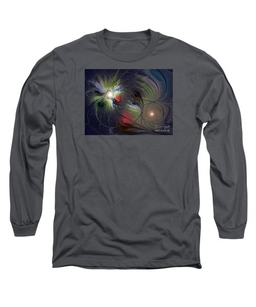 Long Sleeve T-Shirt featuring the digital art Unfading by Karin Kuhlmann