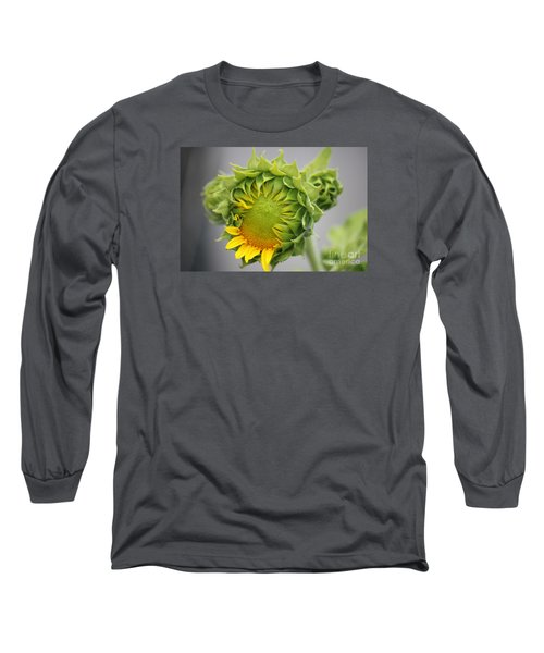 Unfolding Sunflower Long Sleeve T-Shirt