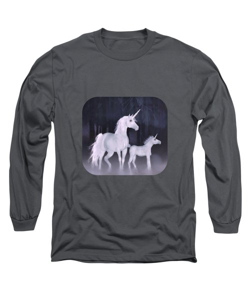 Unicorns In The Mist Long Sleeve T-Shirt