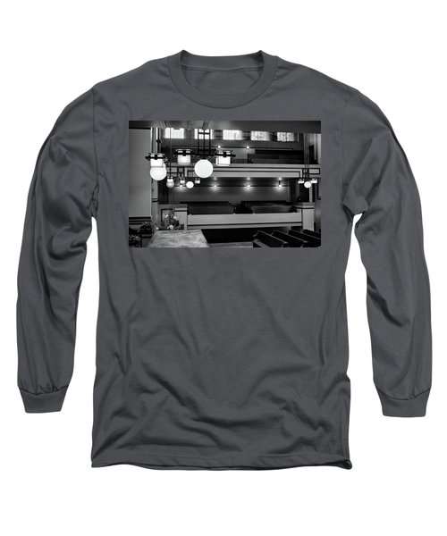 Unity Temple Interior Black And White Long Sleeve T-Shirt