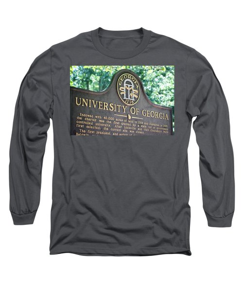 Long Sleeve T-Shirt featuring the photograph University Of Georgia Sign by Parker Cunningham