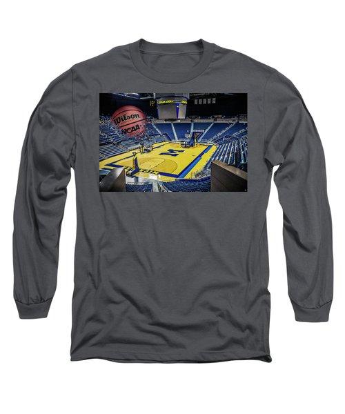 University Of Michigan Basketball Long Sleeve T-Shirt