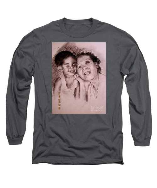 Long Sleeve T-Shirt featuring the drawing Unlimited Love 2 by Jason Sentuf