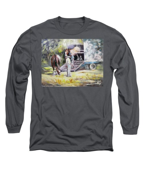 Unloading The Clydesdales Long Sleeve T-Shirt