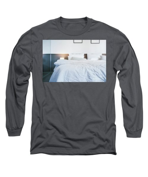 Unmade Bed Long Sleeve T-Shirt by Atiketta Sangasaeng