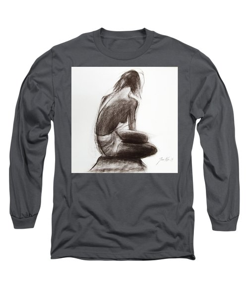 Long Sleeve T-Shirt featuring the painting Until The Sea Shall Free Them by Jarko Aka Lui Grande