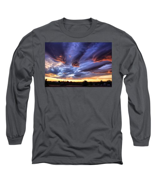 Alien Cloud Formations Long Sleeve T-Shirt by Lynn Hopwood