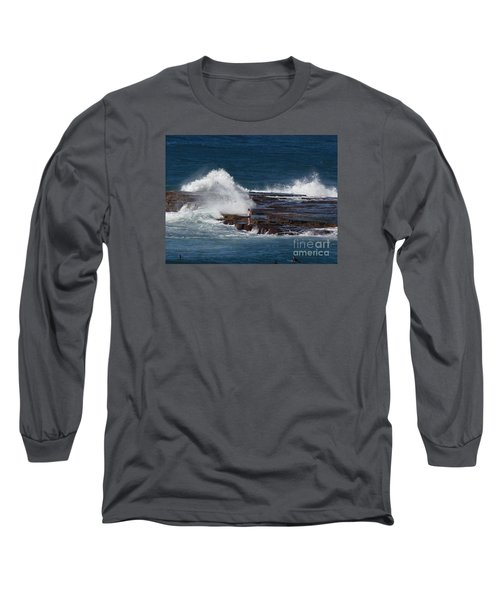 Unwitting Swimmer Long Sleeve T-Shirt by Bev Conover