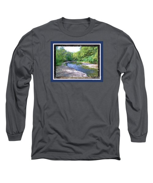 Long Sleeve T-Shirt featuring the photograph Up A Creek by Shirley Moravec