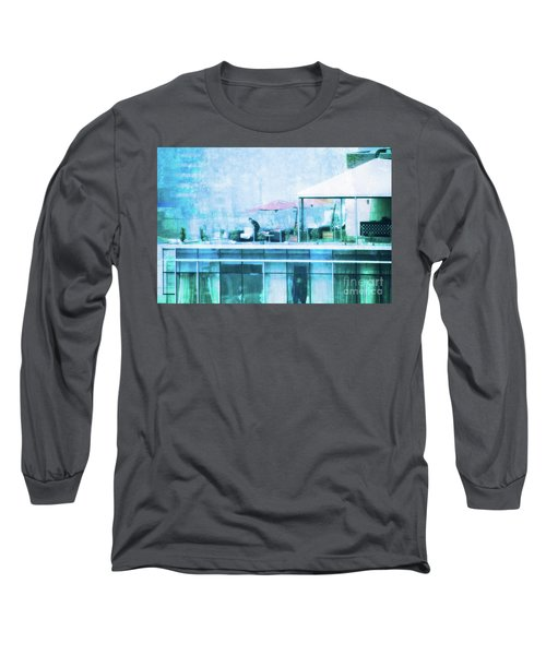 Long Sleeve T-Shirt featuring the digital art Up On The Roof - II by Mary Machare
