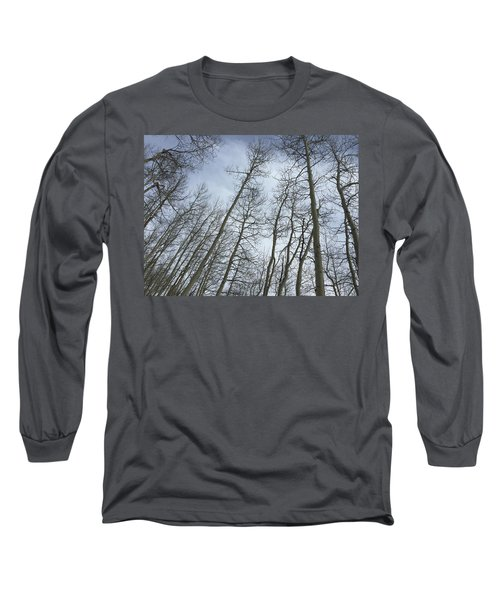 Up Through The Aspens Long Sleeve T-Shirt by Christin Brodie