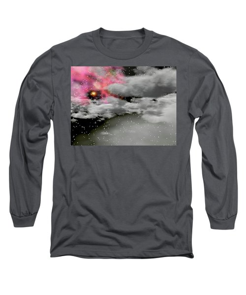 Up Through The Clouds Long Sleeve T-Shirt by Michele Wilson