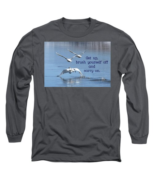 Long Sleeve T-Shirt featuring the photograph Up, Up And Away Carry On by DeeLon Merritt